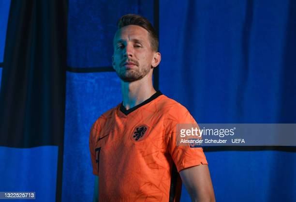 Luuk de Jong of the Netherlands poses during the official UEFA Euro 2020 media access day on June 07, 2021 in Zeist, Netherlands.
