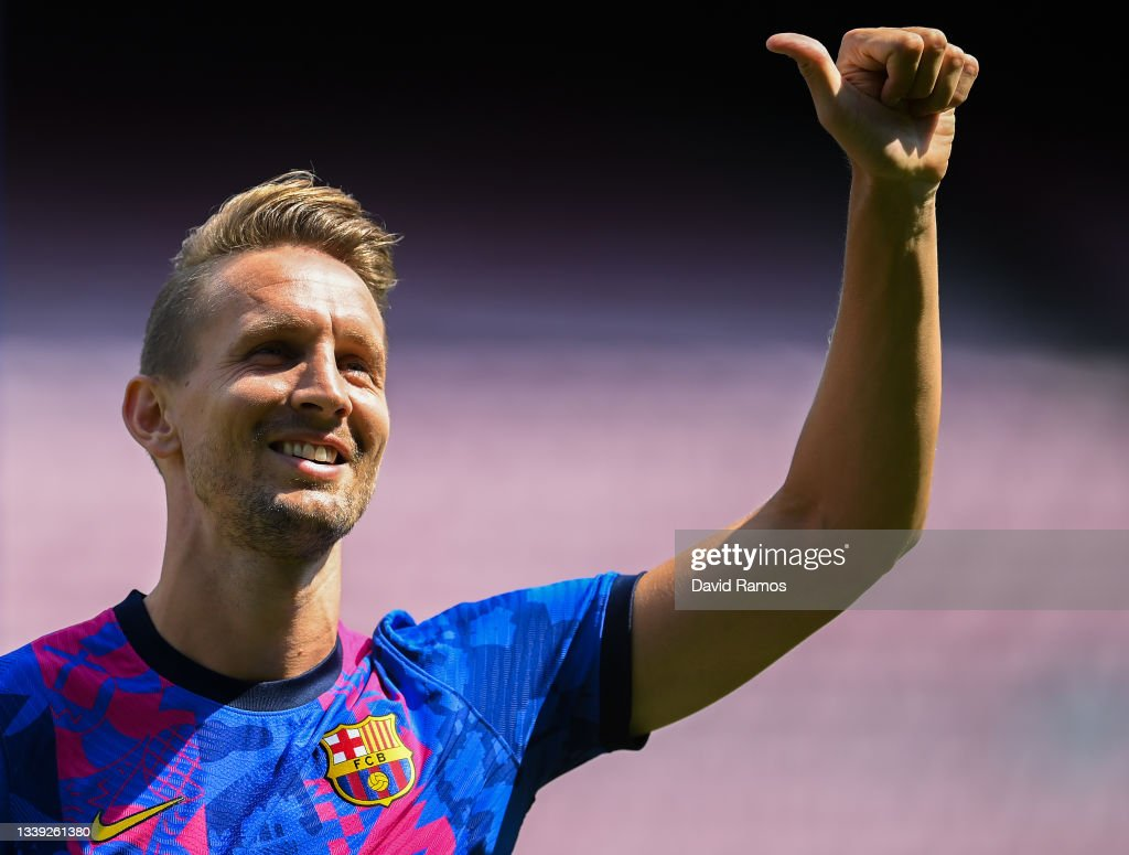 FC Barcelona Unveil New Signing Luuk de Jong : News Photo