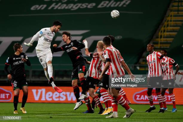 Luuk Koopmans of ADO Den Haag scores 1-1 in the last minute during the Dutch KNVB Beker match between ADO Den Haag v Sparta at the Cars Jeans Stadium...