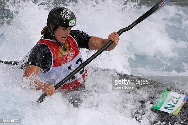 Luuka Jones of New Zealand competes during the Women's Kayak Semifinal on Day 6 of the Rio 2016 Olympics at Whitewater Stadium on August 11 2016 in...