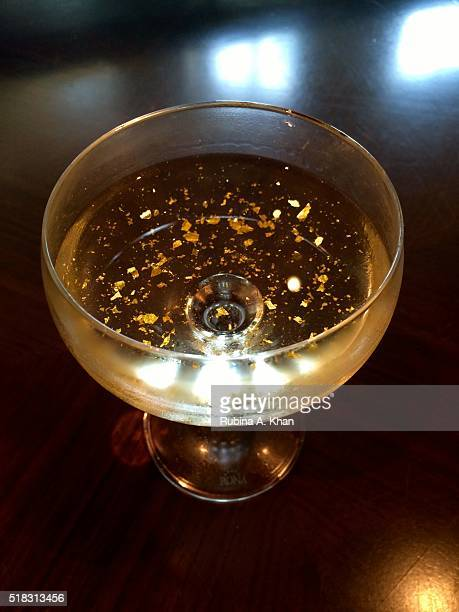Luvka Vodka Martini with dry vermouth and 23 carat gold flakes at Michelinstarred chef Vikas Khanna's restaurant Junoon at the ShangriLa hotel on...
