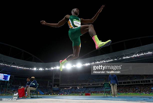 Luvo Manyonga of South Africa competes in the Men's Long Jump final on Day 8 of the Rio 2016 Olympic Games at the Olympic Stadium on August 13 2016...