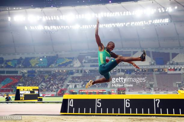 Luvo Manyonga of South Africa competes in the Men's Long Jump Final during day two of 17th IAAF World Athletics Championships Doha 2019 at Khalifa...