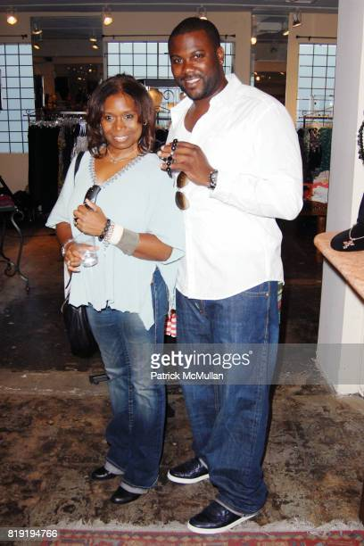 Luwanna Huckaby and Gary O'Neil attend FLP by Nicole Murphy Trunk Show a Jewelry Collection for Men Women at Jami Lyn Boutique on July 13 2010 in...