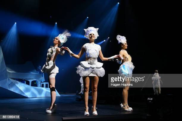 'Lux Operon 13' by Erica Gray of Australia is modelled in the Avantgarde Section during the World of WearableArt Awards 2017 at TSB Bank Arena on...