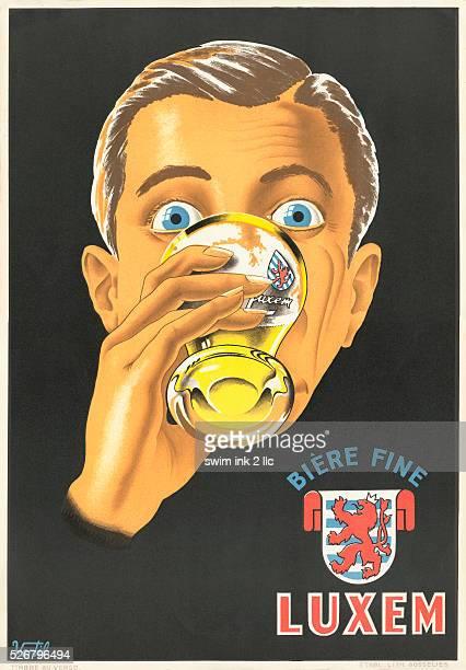 Luxem Beer Poster by Vertil