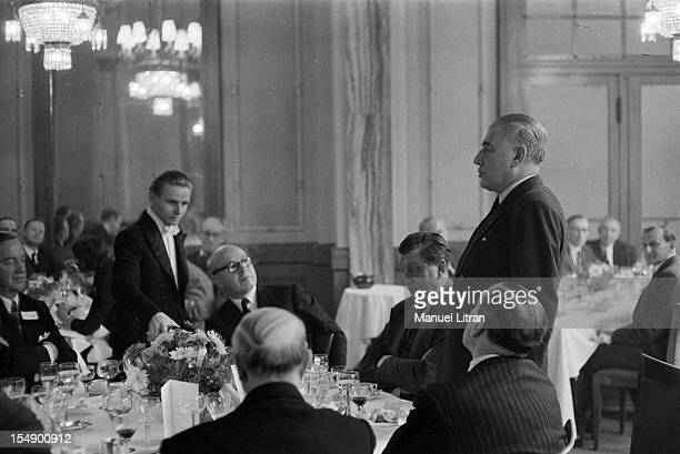 Luxembourg 18 November 1957 the European Economic Community has just been created by the Treaty of Rome of 25 March 1957 At a reception speech Rene...