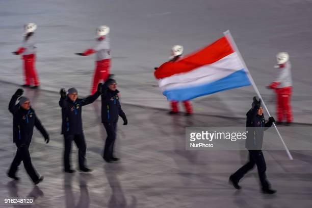 Luxembourg at opening ceremony at 2018 Pyeongchang winter olympics at Pyeongchang olympic stadium, Pyeongchang, South Korea. February 09, 2018.