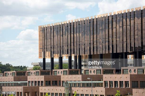 luxembourg city, european court of justice building in kirchberg - luxembourg benelux stock pictures, royalty-free photos & images