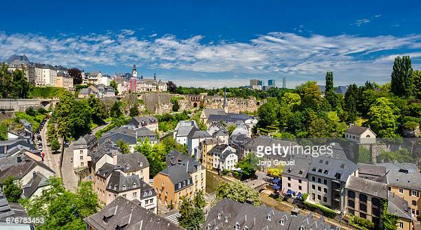 luxembourg city panorama - luxembourg benelux stock pictures, royalty-free photos & images