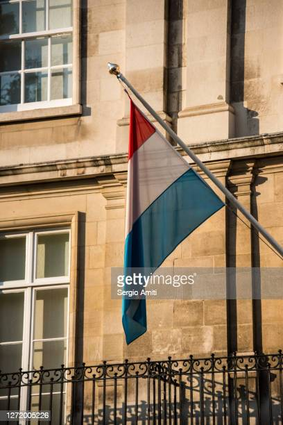 luxembourg flag - diplomacy stock pictures, royalty-free photos & images