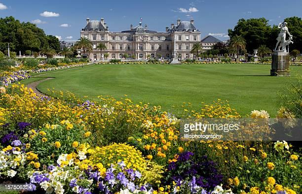 jardines luxembourg en parís - luxemburgo fotografías e imágenes de stock
