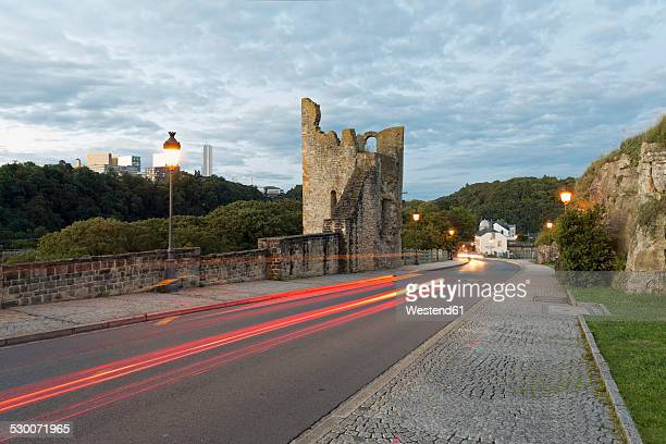 Luxembourg, Luxembourg City, Road on top of the Casemates du Bock