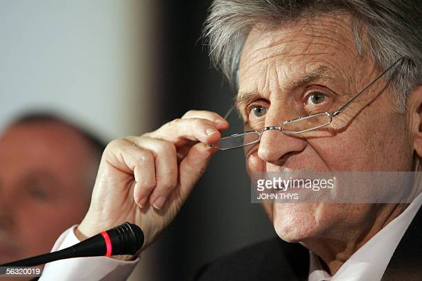 European Central Bank Charmain Jean Claude Trichet speaks during a conference on the stability and growth pact after its reform 02 December 2005 at...