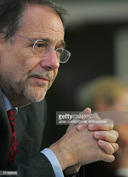 European Union Foreign Policy Chief Javier Solana gives a press conference at the end of an EU council for general affairs and external relations...