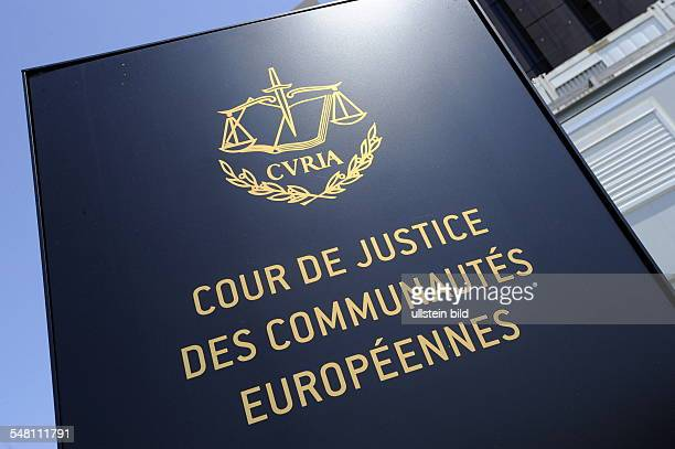 Luxembourg Luxembourg Luxembourg - Emblem of the European Court of Justice