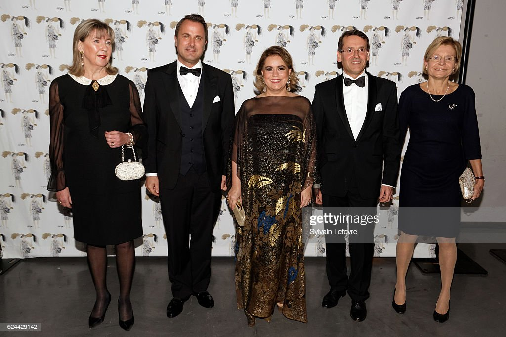 Luxembourg mayor Lydie Polfer, Luxembourg Prime Minister Xavier Bettel, Grand Duchess Maria Teresa of Luxembourg, Luxembourg Red Cross Director General Michel Simonis and guest attend 20th Luxembourg Red Cross Ball Gala on November 19, 2016 in Luxembourg, Luxembourg.