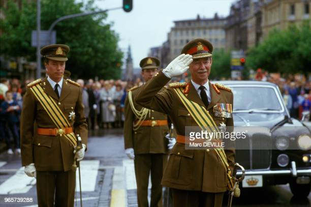 Luxembourg National Holiday With Prince Henri And Grand Duke Jean Luxembourg June 23 1987