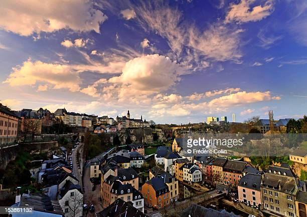 Luxembourg city luxembourg stock photos and pictures getty images luxembourg old city at sunset altavistaventures Choice Image
