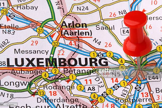 Luxembourg on a Map