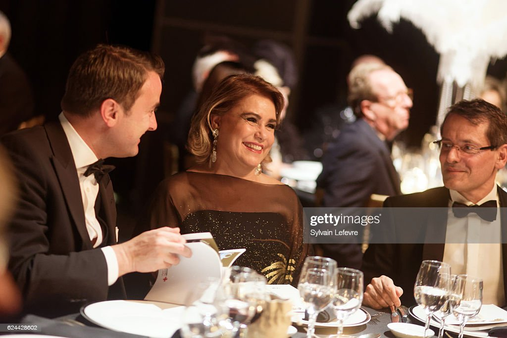 Luxembourg Prime Minister Xavier Bettel and Grand Duchess Maria Teresa of Luxembourg attend 20th Luxembourg Red Cross Ball Gala on November 19, 2016 in Luxembourg, Luxembourg.