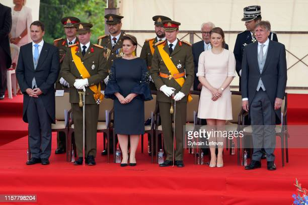 Luxembourg Prime Minister Xavier Bettel, Prince Guillaume of Luxembourg, Grand Duchess Maria Teresa of Luxembourg, Grand Duke Henri of Luxembourg,...