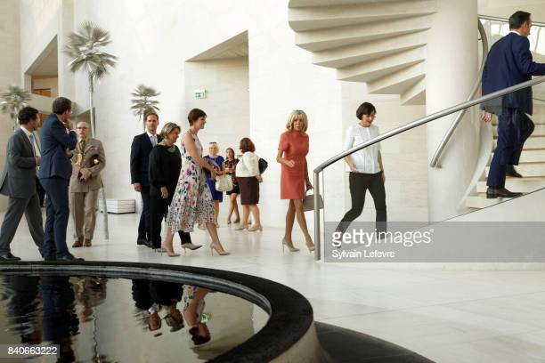 Luxembourg Prime Minister's husband Gauthier Destenay Grand Duchess Maria Teresa of Luxembourg Belgian Prime Minister's partner Amelie...