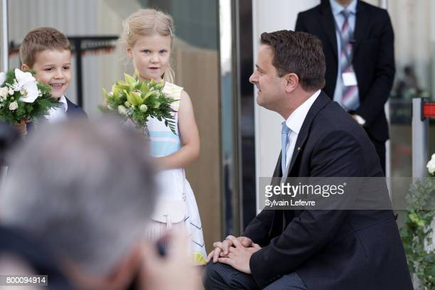 Luxembourg prime minster Xavier Bettel arrives at Luxembourg Philarmonie hall for official reception of National Day on June 23 2017 in Luxembourg...