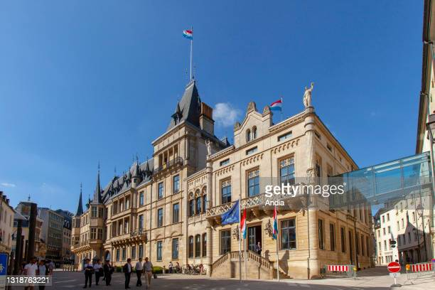 The Grand-Ducal Palace. Renaissance facade of the palace, in Luxembourg City.