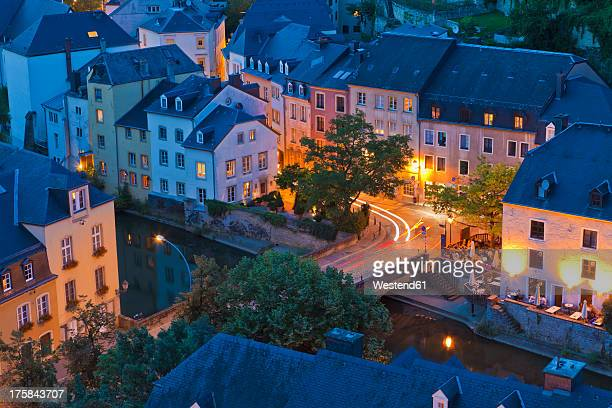 luxembourg, view of city - luxembourg city luxembourg stock photos and pictures
