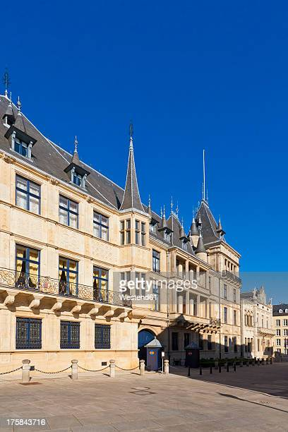 luxembourg, view of grand ducal palace - luxembourg city luxembourg stock photos and pictures