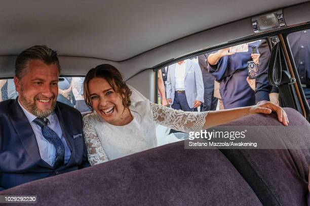 Luxembourgborn actress Desiree Nosbusch and German cameraman Tom Alexander Bierbaumer they got in the car of Oderzo after their marriage on September...