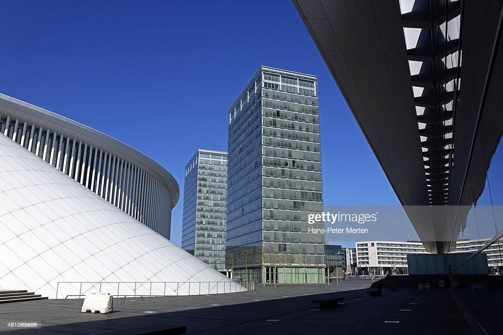 Luxembourg-City, Philharmonie, Kirchberg : Stock Photo
