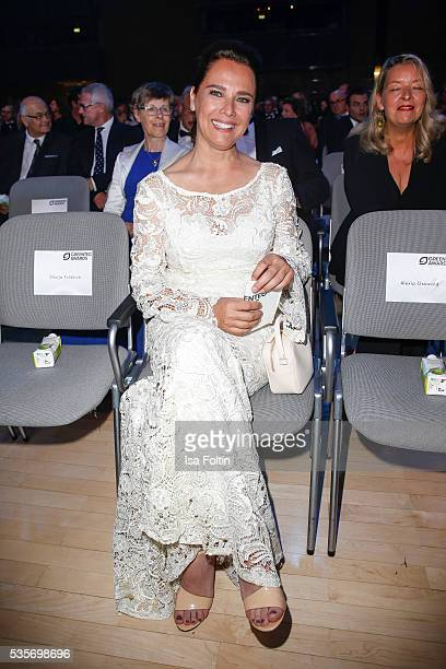 Luxembourgian Moderator Desiree Nosbusch attends the Green Tec Award at ICM Munich on May 29 2016 in Munich Germany