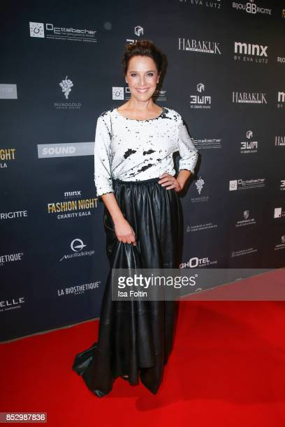Luxembourgian presenter Desiree Nosbusch during the Minx Fashion Night in favour of 'Sauti Kuu' of Auma Obama at Wuerzburger Residenz on September 23...
