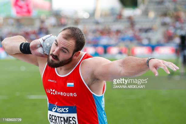 Luxembourg's Bob Bertemes competes in the Men's shot put during the IAAF Diamond League competition on August 24 2019 at the Charlety stadium in Paris