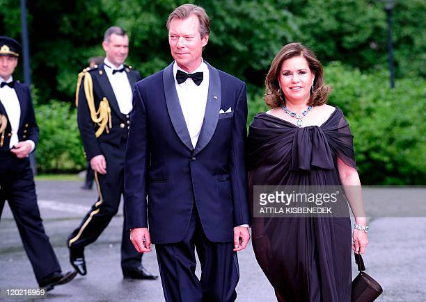 Luxembourg's Grand Duke Henri and Grand Duchess Maria Teresa arrive in front of the Eric Ericson Hall of Skeppsholen in Stockholm on June 18 2010...