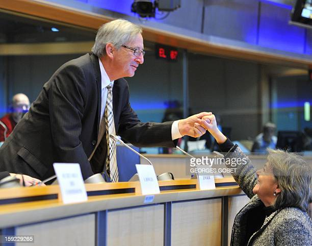 Luxembourg's Prime Minister and Eurogroup president JeanClaude Juncker arrives at the commission meeting on Economic and Monetary Affairs of the...
