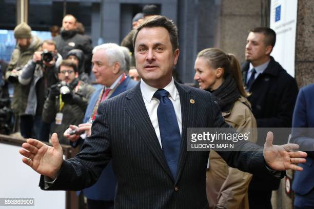 Luxembourg's Prime minister Xavier Bettel arrives to attend an EU summit at which 27 European leaders are to approve opening the next phase of Brexit...