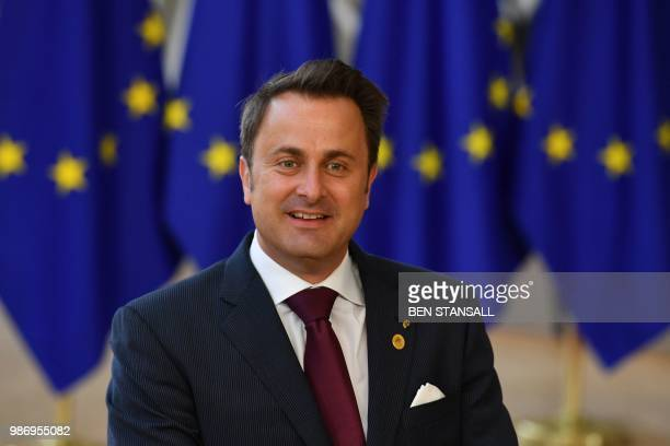 Luxembourg's Prime Minister Xavier Bettel arrives to take part in the last day of the European Union leaders' summit, without Britain, to discuss...