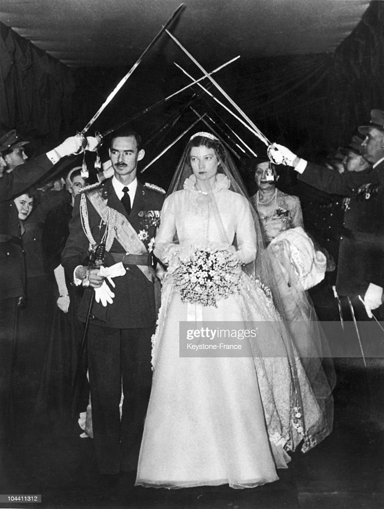 Wedding Of Crown Prince Jean Of Luxembourg To Princess Josephine Charlotte 1953 : News Photo