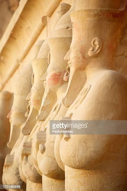 Luxor Egypt Osiris Statues in a Row Temple of Hatshepsut