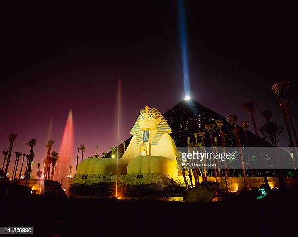 Luxor Hotel and Casino at Night, Las Vegas, Nevada, USA