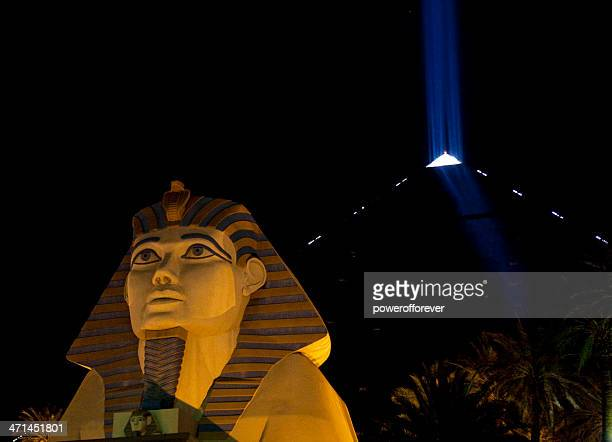 Luxor Hotel and Casino Nighttime