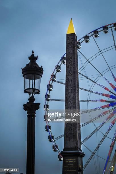 luxor obelisk, paris, 2017 - place de la concorde stock pictures, royalty-free photos & images