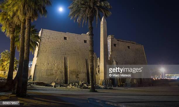 luxor temple facade at night - marc mateos fotografías e imágenes de stock