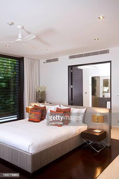 Luxurious bedroom in a tropical villa