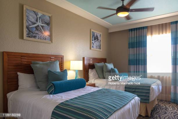 A luxurious bedroom in The Wyndham PalmAir resort which belongs to Wyndham Club The club offers more than a 100 resorts in North America and the...
