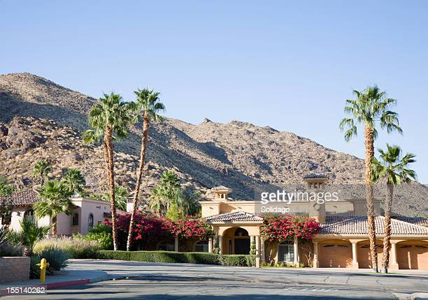 luxurious desert living - palm springs california stock pictures, royalty-free photos & images