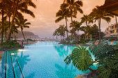 Luxurious Hawaiian 5 star resort.